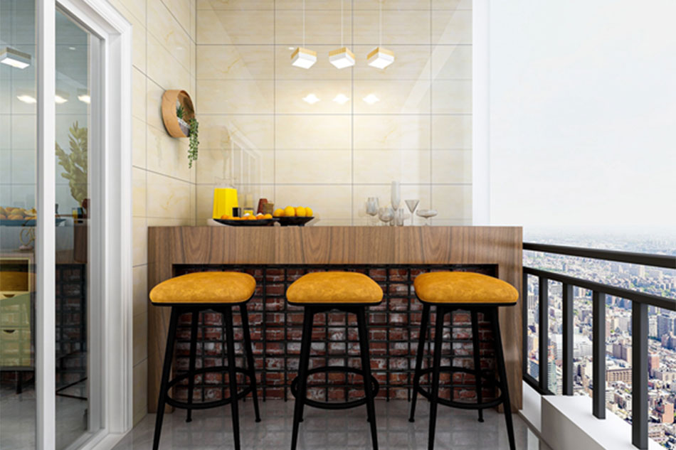 Make it a bar with balcony tiles