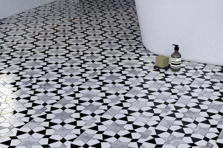 Elegant patterns of mosaic tiles