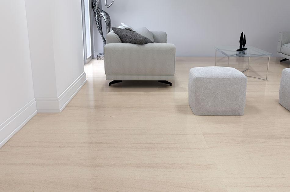 Beige marble floor