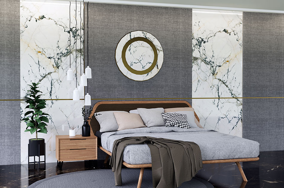 marble design for bedroom wall